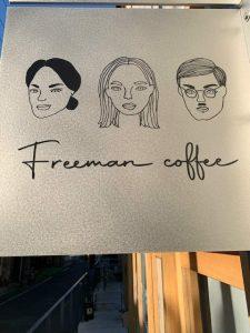 フリーマンコーヒー看板